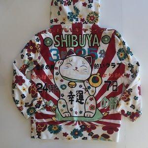 Lucky Shibuya Hooded Sweatshirt Size Small